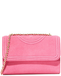 Tory Burch Fleming Snake Embossed Shoulder Bag