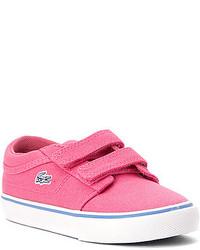 Lacoste Girls Kids Vaultstar Canvas Sneaker Toddler