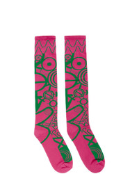 Charles Jeffrey Loverboy Pink And Green Gender Identity Socks