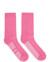 Rick Owens Pink Logo Socks