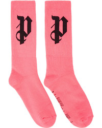 Palm Angels Pink Pa Monogram Socks