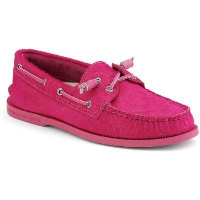 Topsider Shoes Authentic Original Barrel Lace Boat Shoe By Jeffrey Pink Pony Hair
