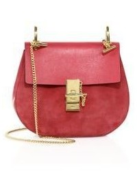 Chloé Chloe Drew Small Suede Leather Saddle Crossbody Bag