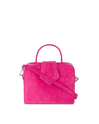 Mehry Mu Pink Fey Mini Suede Box Bag