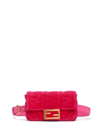 Fendi Logo Velvet Belt Bag