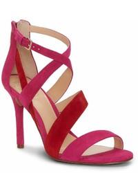 Vince Camuto Chakeetan Suede Colorblock Dress Sandals