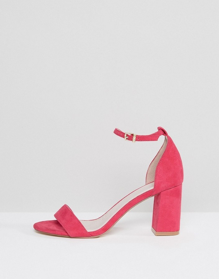 Faith Wide Fit Pink Heeled Sandals, $62