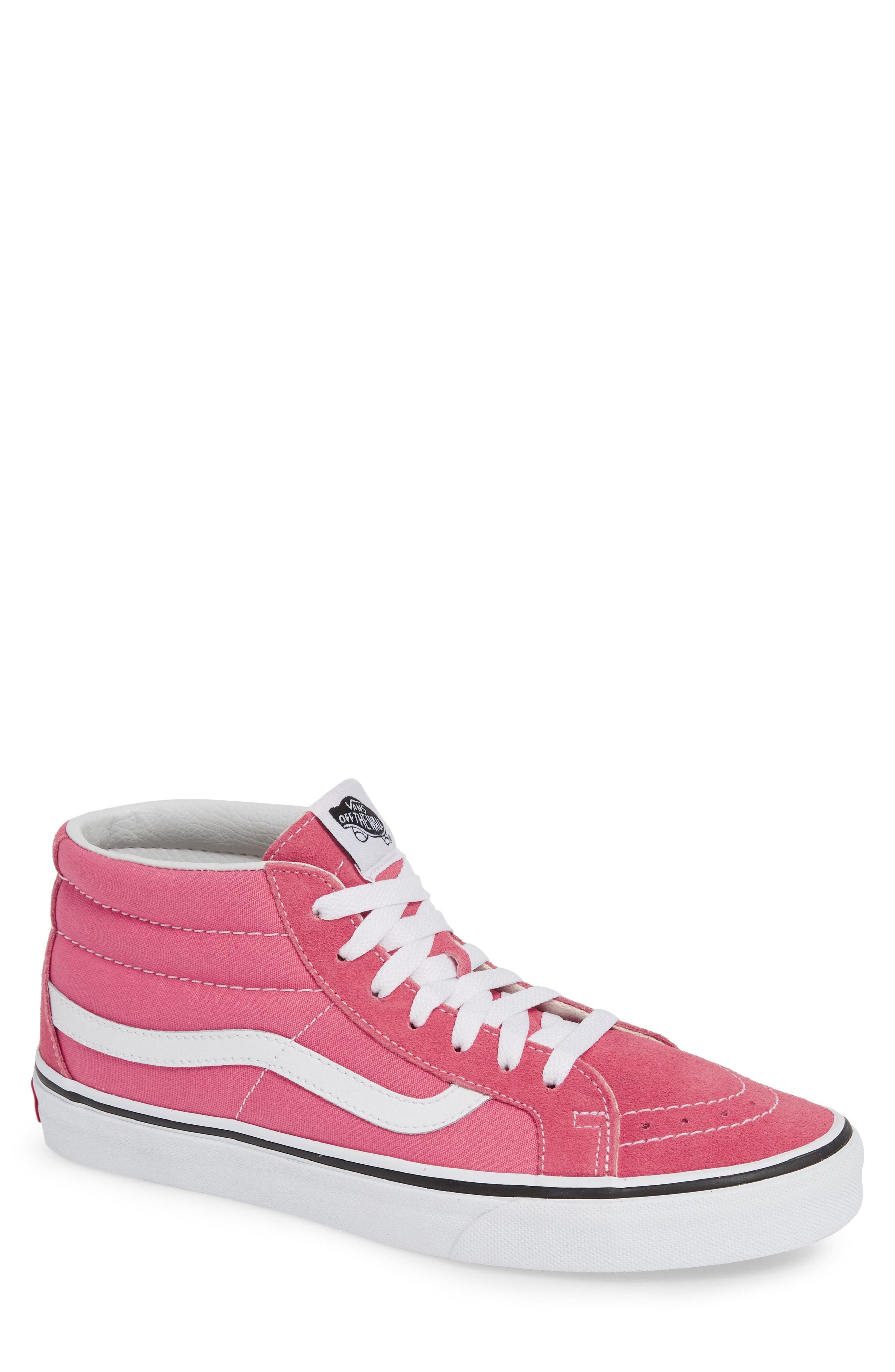 03bfb1c4647855 ... Hot Pink Suede High Top Sneakers Vans Sk8 Mid Reissue Sneaker