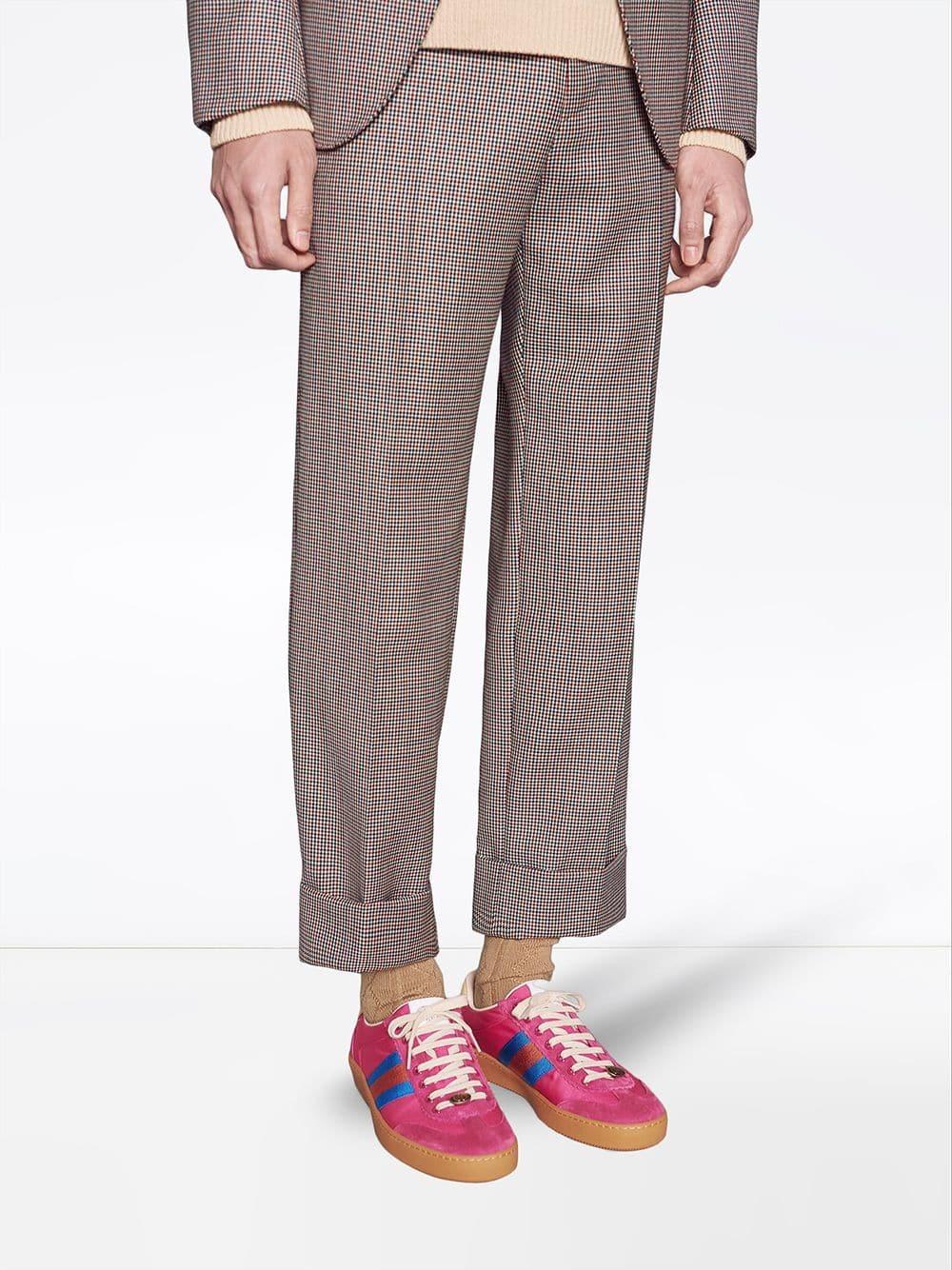 Gucci G74 Nylon Sneaker With Web, $586