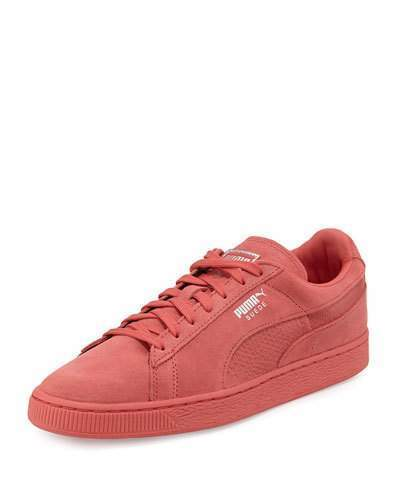 318ac42a523234 ... Hot Pink Suede Low Top Sneakers Puma Suede Classic Mono Reptile  Sneakers Rose ...