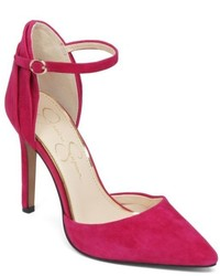 Jessica Simpson Carlette Ankle Strap Pointed Toe Pumps
