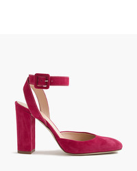 J.Crew Lena Ankle Wrap Pumps In Suede