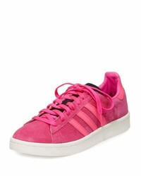 adidas Campus Suede Lace Up Sneaker Coral