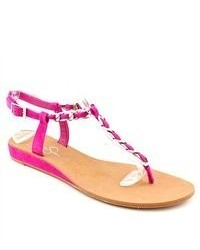 f21f4c448a2 ... Jessica Simpson Joey Pink Kid Suede Thongs Sandals Shoes