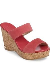 Jimmy Choo Parker Cork Wedge Slide Sandal