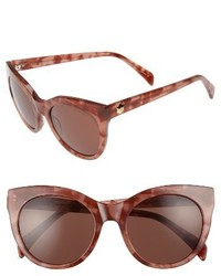 Draper James 52mm Round Cat Eye Sunglasses Pink
