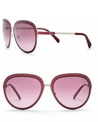 Emilio Pucci 57mm Metal Sunglasses