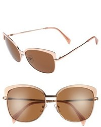 Draper James 60mm Cat Eye Sunglasses Shiny Gold