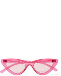 Le Specs Adam Selman The Last Lolita Cat Eye Acetate Sunglasses Pink