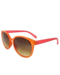 Apopo Int'l Orange Pink Oval Fashion Sunglasses