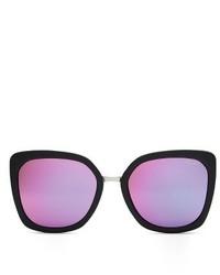 Quay Australia Capricorn Square Sunglasses Black Pink