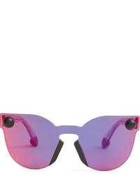 Christopher Kane Bumper Rimless Cat Eye Sunglasses