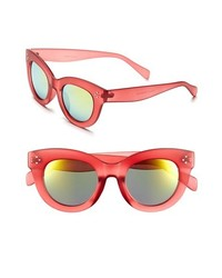 Fantas Eyes Fe Ny 49mm Mirror Lens Sunglasses Pink One Size