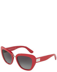 Dolce & Gabbana Gradient Squared Cat Eye Acetate Sunglasses