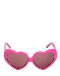 Moschino Heart Shaped Acetate Sunglasses