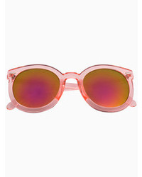 Choies Pink Transparent Arrow Frame Sunglasses With Mirror Lens