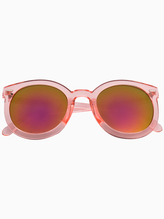Choies Pink Transparent Arrow Frame Sunglasses With Mirror Lens ...