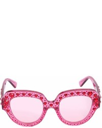 Gucci Squared Sunglasses W Heart Crystals