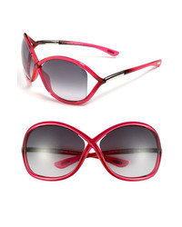 Tom Ford Whitney 64mm Sunglasses Transparent Pink One Size