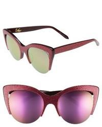 Vow London Mia 51mm Cat Eye Sunglasses Hot Pink Glitter