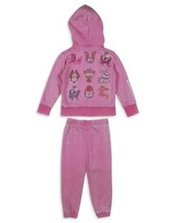 Butter Shoes Butter Toddler Girls Two Piece Embellished Hoodie Sweatpants Set