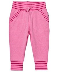 Geggamoja Pink Melange College Pants