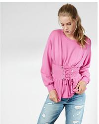 Express Corset Waist Sweatshirt