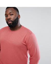 ASOS DESIGN Plus Sweatshirt In Red Interest Fabric