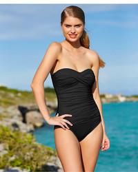 3754c3071d646 ... LaBlanca La Blanca Ruched Bandeau One Piece Swimsuit ...