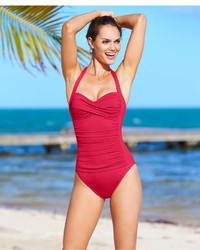 a1a74cbbddafb LaBlanca La Blanca Ruched Twist Front One Piece Swimsuit Swimsuit