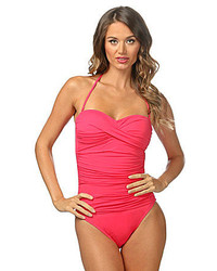 LaBlanca La Blanca Solid Bandeau One Piece Swimsuit