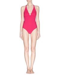 Tory Burch Logo Clasp One Piece Swimsuit