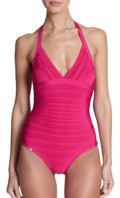 72069c08535b4 Herve Leger One Piece Macie Braided Swimsuit, $690 | Saks Fifth ...