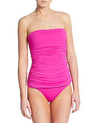Ivanka Trump One Piece Ruched Swimsuit