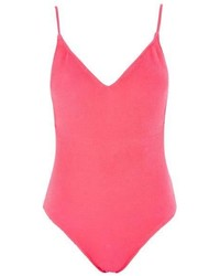 Topshop Shirred Swimsuit