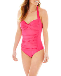 Liz Claiborne Sweetheart Halter 1 Pc Swimsuit