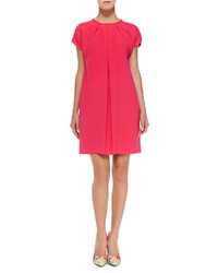 Kate Spade New York Crepe Cap Sleeve Pleated Front Dress Aladdin Pink