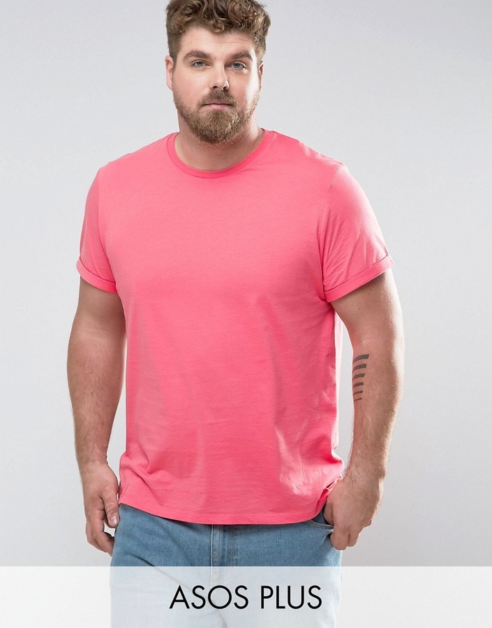 ... T-shirts Asos Plus T Shirt With Roll Sleeve