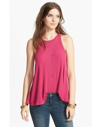 Free people long beach tank hot pink medium medium 420720