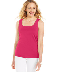 Karen Scott Square Neck Tank Top